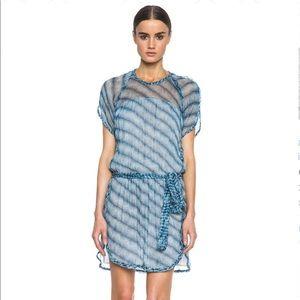 Isabel Marant Etoile ZAGGY Blue Silk Print Dress.